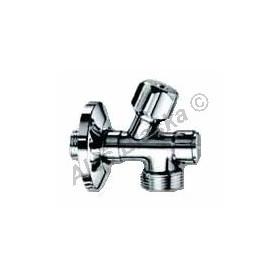 """vřetenový pračkový rohový ventil 1/2""""x3/4"""" s filtrem (roháček,kohout k pračce, myčce)"""