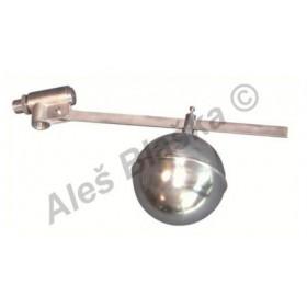 Plovákový nerezový napouštěcí ventil průmyslový s plovákem-koulí (napouštění nádrží jímek) NEREZ INOX