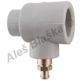 PPR vypouštěcí ventil tvarovka s vypouštěním plastová navařovací