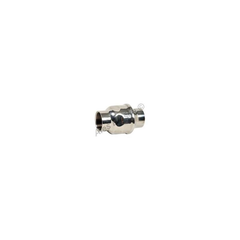 Nerezová zpětná klapka UNIVERZÁLNÍ s pružinkou - NEREZ - INOX (zpětný ventil)