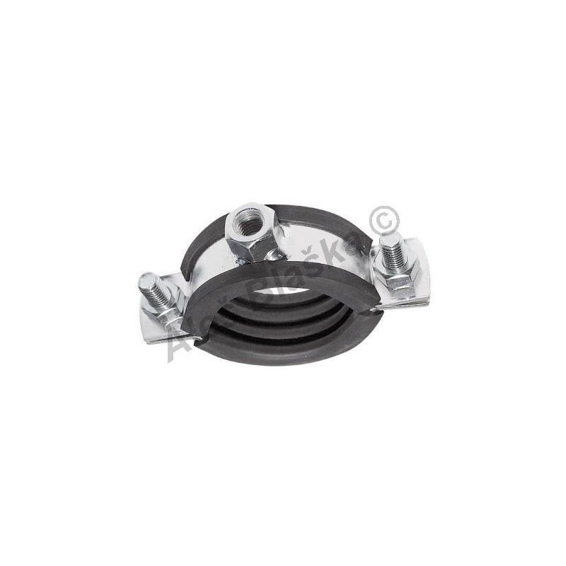 Instalační nerezová objímka upínací na trubku (potrubí) dvoušroubová INOX nerez příchytka držák trubky