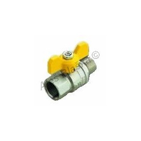 Kulový kohout (ventil) URAGANO na plyn s motýlem MF plnoprůtokový (plynový)