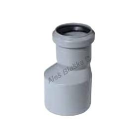 HT přechodka PP/PVC excentrická (HT kanalizační odpadní systém)