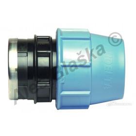 PE (PP-S) spojka přímá s vnitřním závitem na polyetylénové trubky (polyš) (svěrná plastová)