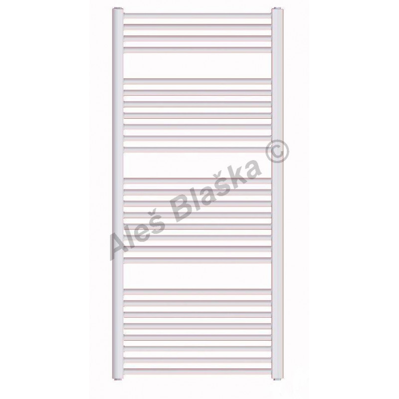 BK Koupelnový radiátor (žebřík) rovný barva bílá
