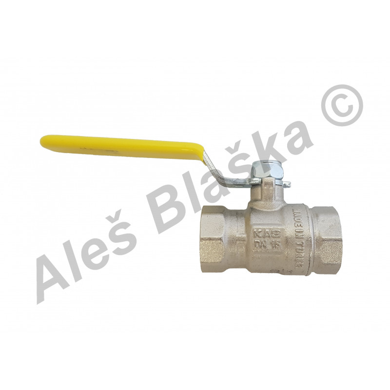 Kulový kohout (ventil) na plyn s pákou FF plnoprůtok (plynový)