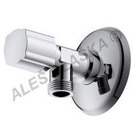 """Rohový vřetýnkový ventil 1/2""""x3/8"""" k umyvadlu WC (roháček)"""