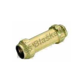 PE mosazná spojka přímá prodloužená na polyetylénové trubky (polyš)