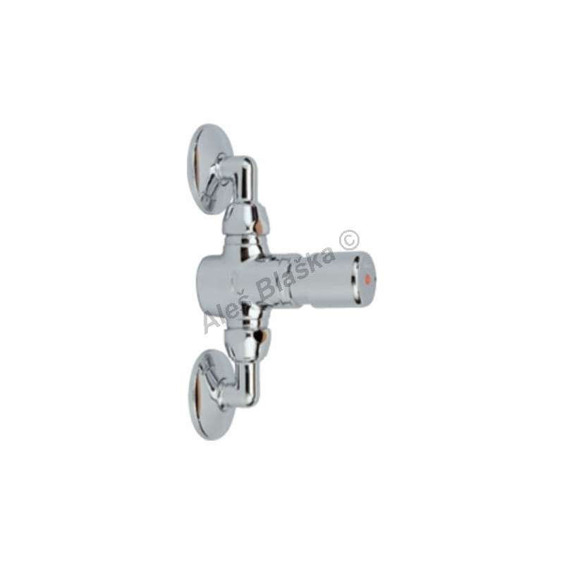 RIVER MAGIC R 7400 Nástěnný tlačítkový časový výtokový ventil se spořičem průtoku