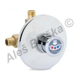 RIVER MINIMAGIC R 00748/2 Sprchový tlačítkový časový směsovací ventil se spořičem průtoku