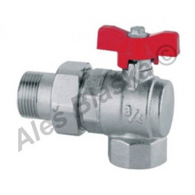 Kulový kohout (ventil) rohový plnoprůtok šroubení (se šroubením)