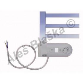 AV.ERK levý Elektrický koupelnový radiátor rovný metalická stříbrná (žebřík)
