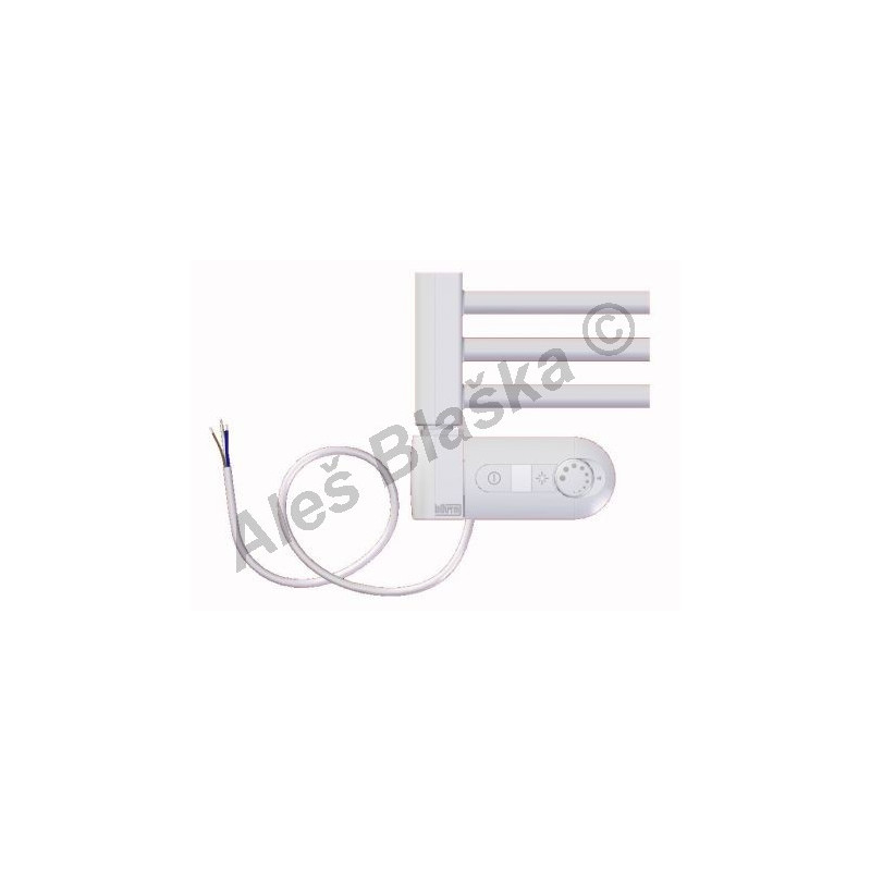 BK.ERK levý Elektrický koupelnový radiátor rovný barva bílý (žebřík)