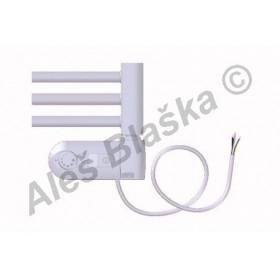 BK.ERK pravý Elektrický koupelnový radiátor rovný barva bílý (žebřík)