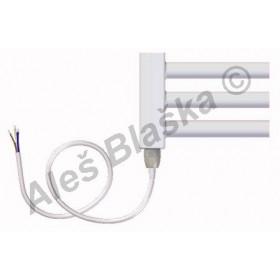 BKL.E pravý/levý Elektrický koupelnový radiátor rovný bílý (žebřík)