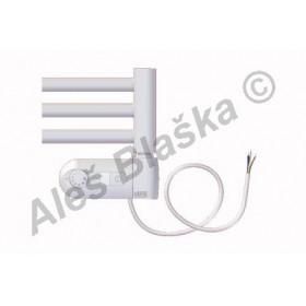 BKL.ERK pravý Elektrický koupelnový radiátor rovný bílý (žebřík)