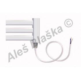 BKM.E pravý Elektrický koupelnový radiátor prohnutý bílý (žebřík)
