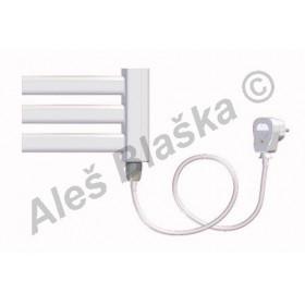 BKM.ES pravý Elektrický koupelnový radiátor prohnutý bílý (žebřík)